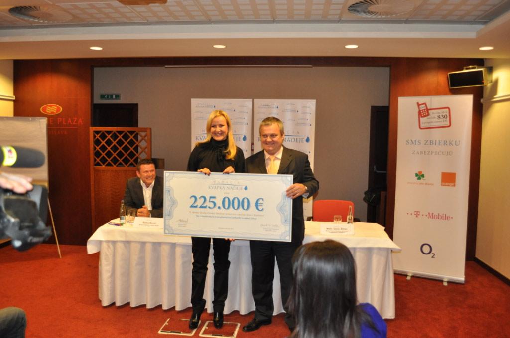 Prvý rok Nadácie  Kvapka  Nádeje  na  Slovensku