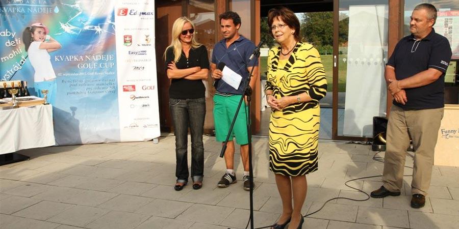 Kvapka Nádeje Golf Cup 2011 – tlačová správa